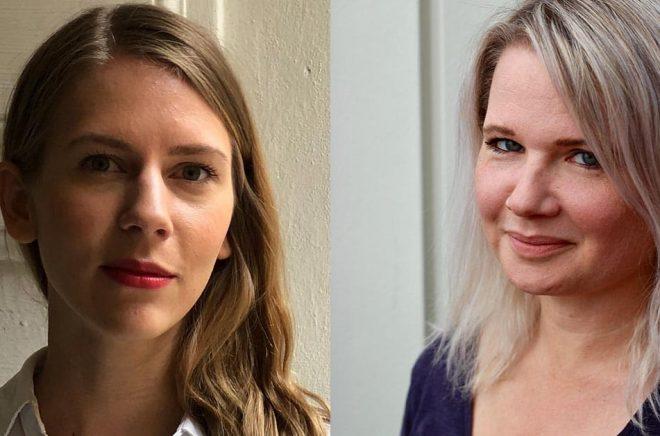 Anna Falkenland och Agnes Cavallin blir nya redaktörer på Bokmässan. Foto: Pressbilder.