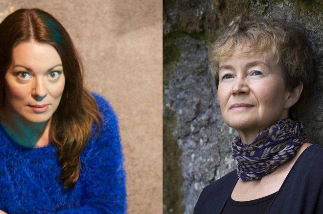 Nya ledamöter i Svenska Akademien - Anne Swärd (foto: Henric Tiselius) och Ellen Mattson (foto: Kristin Lidell).