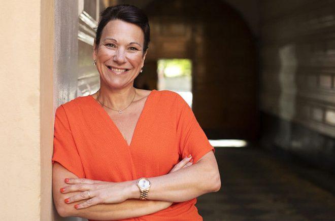 Annette Tannerfeldt, chef för Bonniers Bokklubbar sedan 1 juni 2018. Foto: Petter Nilsson.
