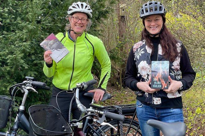 Annika Andebark och Cecilia Johansson är två av författarna som deltar i  Littera-turen på  Söderåsen i Skåne. Foto: Privat.