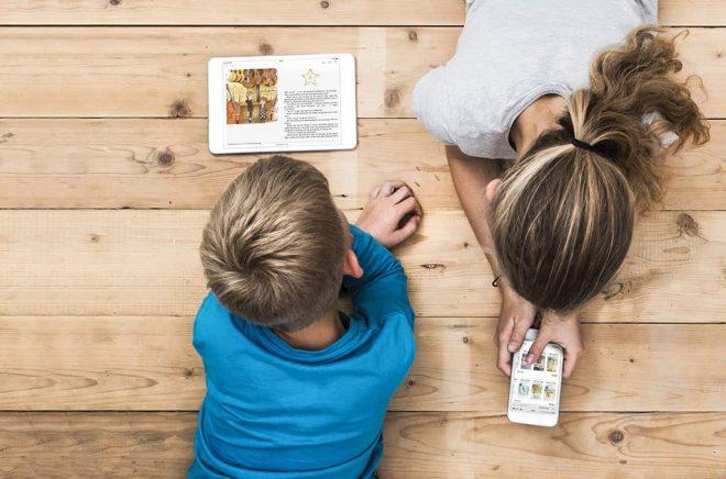 Barn är en viktig målgrupp för Nextory som gärna vill öka läsandet av eböcker. Foto: Nextory.