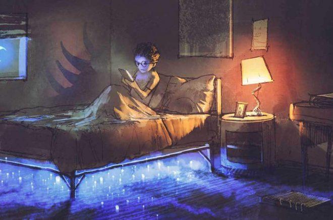 Läsförmåga är grunden för att väcka den läsglädje som håller barnen vakna på natten uppslukade av en spännande bok. Illustration: grandfailure, Fotolia.