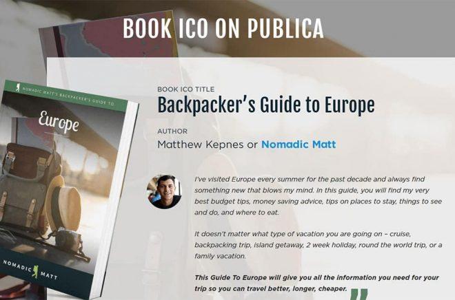 Världens första bok-ICO? Det hävdar i alla fall sajten Publica som satsar på att bli plattformen för författare som vill crowdfunda sina böcker med blockkedjeteknik.