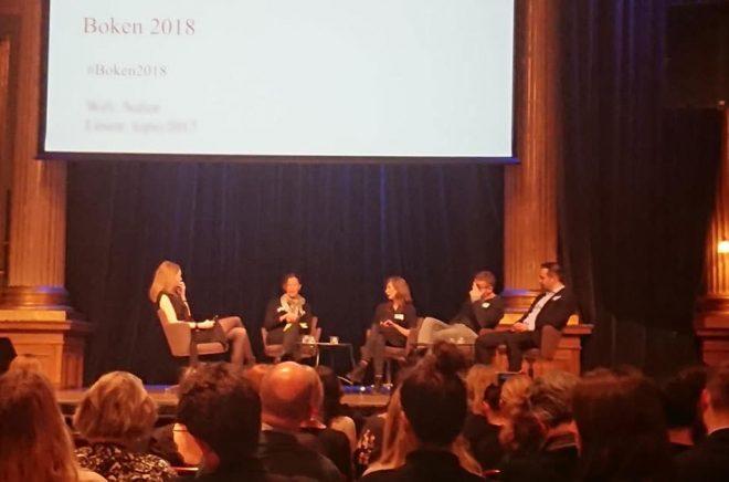 En av panelerna under Boken 2018 på Nalen i Stockholm. Många framtidsfrågor dryftades men förvånansvärt många lämnades utanför. Foto: Sölve Dahlgren
