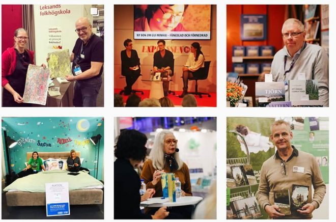 Boktugg finns på Instagram - och på Bokmässan där vi rapporterar via Instagram.