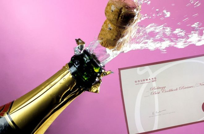 Boktugg vann utmärkelsen Best in the world i kategorin nyhetssajter/nyhetsbrev vid Gourmand World Cookbook Awards 2018. Bakgrundsbild: iStock.