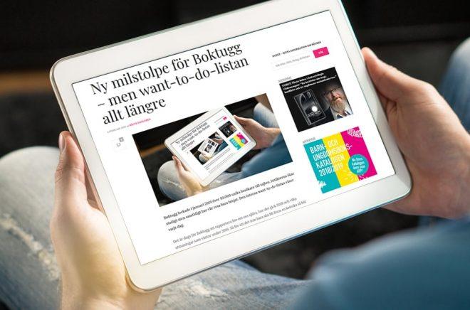 Boktugg ska kunna läsas på alla skärmar och vi hoppas att läsarna kommer tillbaka varje dag. Gärna flera gånger. I januari 2019 sattes nytt besöksrekord med 93 000 unika besökare på sajten.