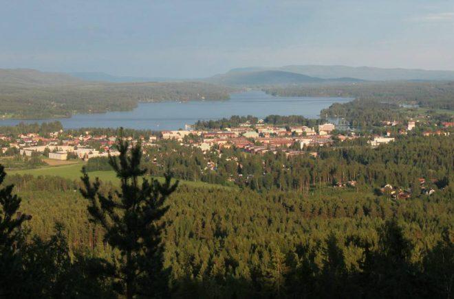 Utsikten från Bolleberget över Bollnäs. Foto: Bollnäs kommun