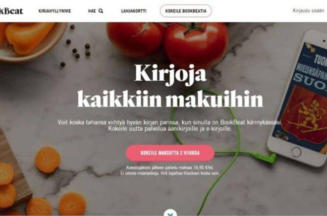 BookBeat växer snabbt på den finska marknaden där papperböcker tappar mark.