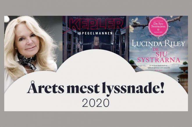 Bookbeat har sammanställt de mest lyssnade ljudböckerna, författarna och inläsarna 2020 (fram till november). Pressbild.