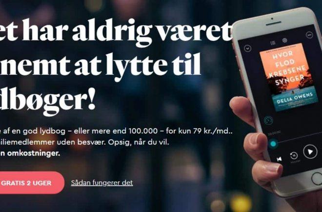 Även Danmark får nu en dansk Bookbeat-app och fler danska böcker i tjänsten. Lanseringen påbörjas nu med körs i stor skala först längre fram i sommar. Foto: Bookbeat.