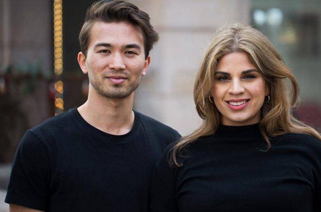 Miles Scherrer och Jessica Mansourati står bakom den nya sociala läsappen Bookself som ska utmana självaste Goodreads. Foto: Pressbild.