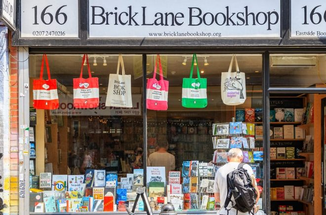 En oberoende bokhandlare i London är Brick Lane Bookshop på … just det, Brick Lane. Foto: iStock.