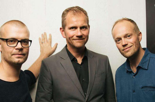 Från vänster: co-founders Magnus Lekberg, Robert Henrysson och Per-Erik Sundström. Saknas gör Fredrik Malmberg och Martin Dunelind. Foto: Charles Wood Publishing