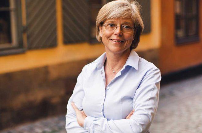 Författaren Ingrid Carlberg. Foto: Kajsa Göransson.