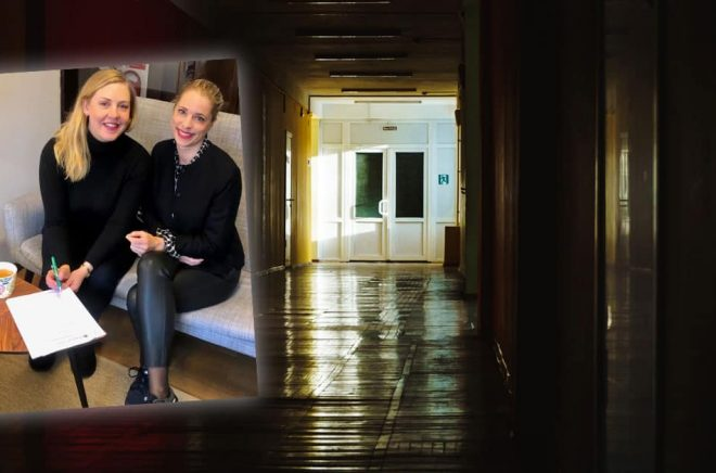 Caroline Andersson och Céline Hamilton. Foto: Harper Collins. Bakgrundsbild: Istock