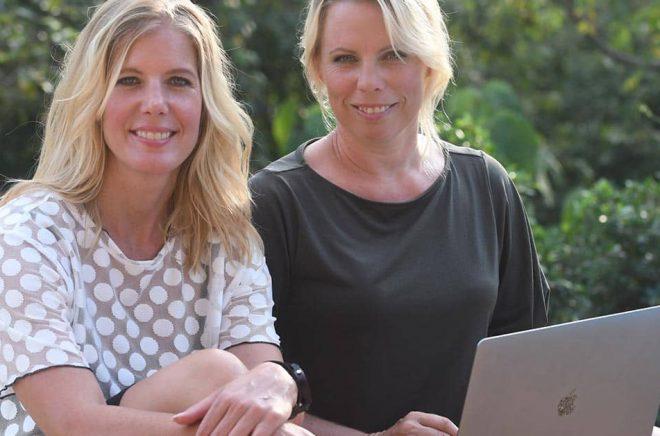 Författarna Anna Karolina och Caroline Engvall startar nu Författarakademin. Foto: Pressbild.