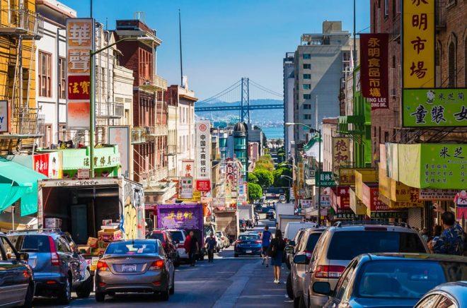 Chinatown, San Francisco. I denna del ligger bokhandeln EastWind Books som är en av elva som får ekonomiskt stöd av staden. Foto: iStock.