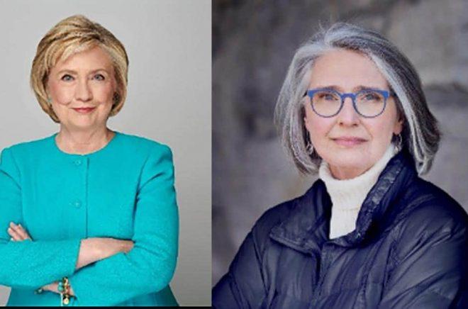Hillary Rodham Clinton (foto: Joe McNally) och den kanadensiska författaren Louise Penny (foto: Jean-François Bérubé) har  tillsammans skrivit en thriller som släpps på svenska av Bokfabriken.