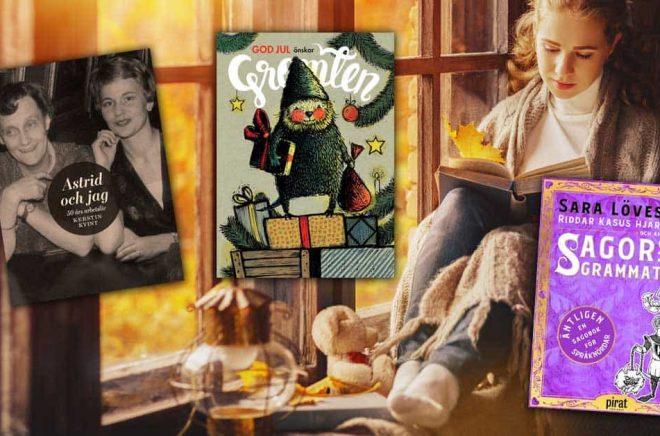 Många böcker blir det för både barn och vuxna. Den 8 november är det gott om nya böcker på svenska. Bakgrundsfoto: iStock.
