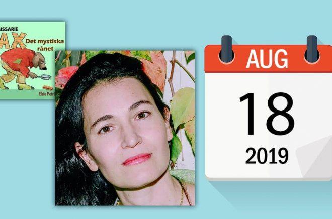 Den 18 augusti är bland andra författaren Nicole Krauss född (pressbild: Brombergs). Bakgrundsbild: iStock.