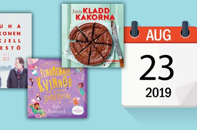 Vilka författare fyller år den 23 augusti - och vilka nya böcker släpps denna dag? Bakgrundsfoto: iStock.
