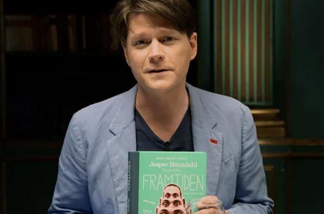 Daniel Sjölin med gästen Jesper Rönndahls bok Framtiden.