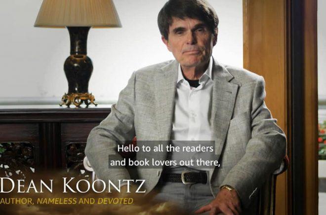 Dean Koontz presenterade själv samarbetet i en video som skickades ut tillsammans med pressmeddelandet. Foto: Amazon.