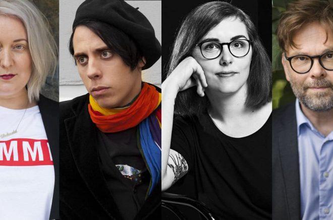 Några debutanter i februari, från vänster: Linda Hörnfeldt (foto: Casia Bromberg), Emil Åkerö (foto: Elizabet Westerlund), Elin Willows, Bo Svernström (foto: Martin Stenmark).