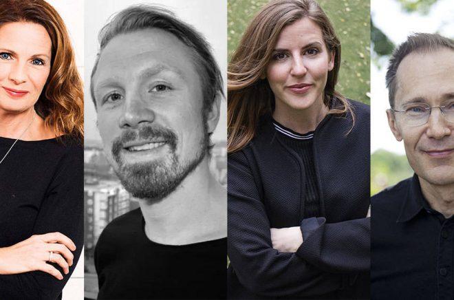 Debutanter i maj 2018 - från vänster: Veronica Linarfve (foto: Eva Lindblad 1001bild.se), Max Schüllerqvist, Cecilia Salamon, Per Snaprud (foto: Carola Björk).