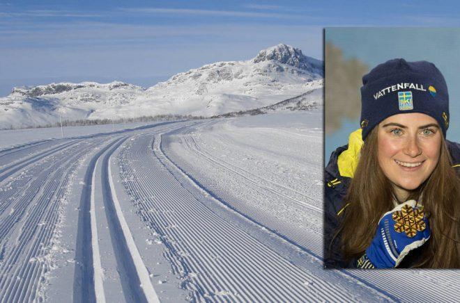 Svenska guldvinnaren Ebba Andersson blir varumärkesambassadör för Storytel. Bakgrundsfoto: iStock. Infällda bilden: Wikipedia, Granada. (CC BY-SA 4.0)