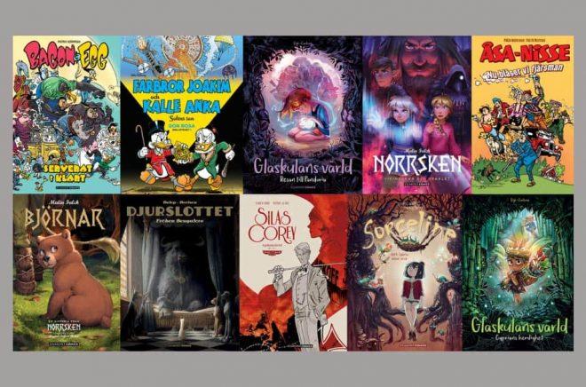 Egmont ser en ökad efterfrågan på tecknade serier i bokformat.