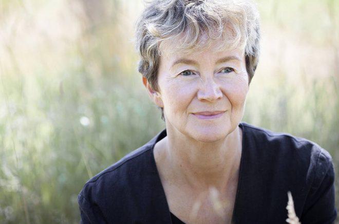 Författaren Ellen Mattson får Gerard Bonniers pris 2018. Foto: Kristin Lidell.