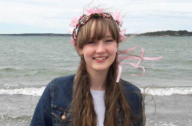 Fanny Skarin, 16 år, vann Tidningen Julias och Barnens biblioteks novelltävling med berättelse om klimatet. Foto: Privat