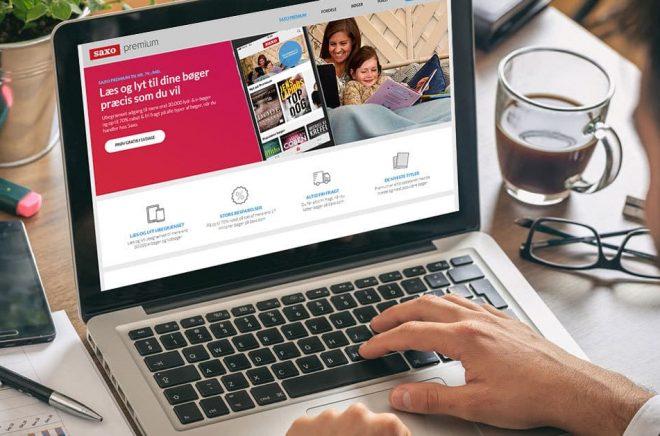 Danska nätbokhandeln Saxo.com lanserar Saxo Premium som ska konkurrera med Storytel - men även förbereder dem för Amazons ankomst. Foto: Fotolia. Montage: Boktugg.
