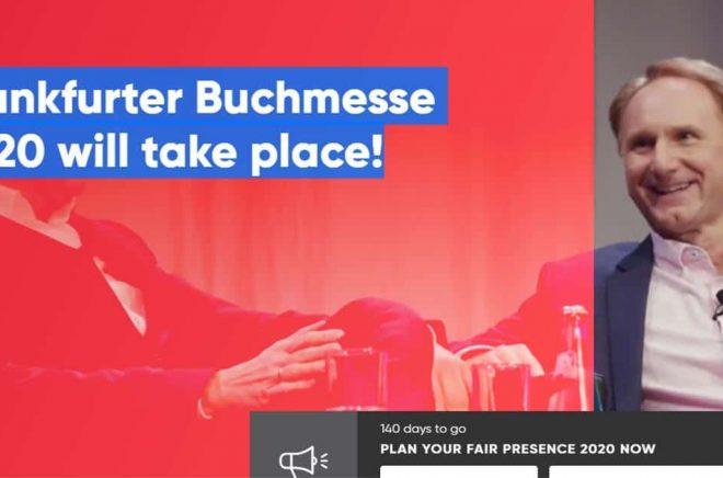 Tydligt besked på Bokmässan i Frankfurts hemsida idag. Men det blir inte en helt vanlig mässa, Covid 19 präglar förberedelserna och planeringen.