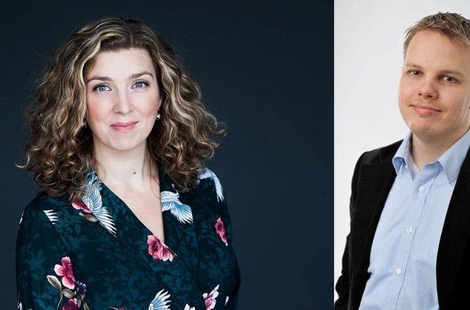 Frida Skybäck och Michael Wiander är bara två av alla de författare som fått ta emot avbokningar på framträdanden under våren på grund av coronaviruset. Det är viktiga tusenlappar som försvinner. Foto: Pressbilder.