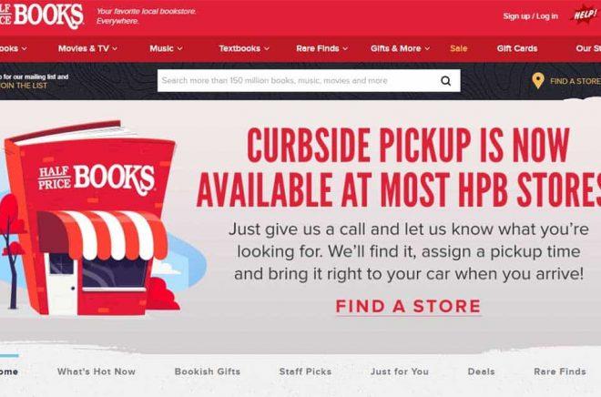 Ring och beställ dina böcker, boka en tid och kör till butiken så kommer vi ut och lämnar över dem till dig i bilen. Bokhandelskedjan Half Price Books tar till nya metoder. Drive through-bokhandel.