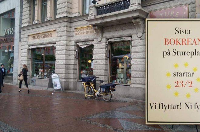 Hedengrens bokhandel flyttar