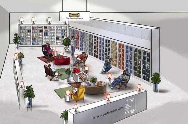 IKEA Reading Room är en tillfällig kampanj i varuhuset i Wembley 31 juli-5 aug. Foto: IKEA.