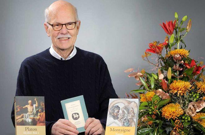 Jan Stolpe, översättare, tilldelas Svenska Förläggareföreningens Hederspris 2019. Foto: Sören Andersson.