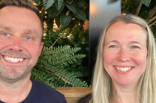 Peter Ericsson och Jenny Grand. Foto: Privat