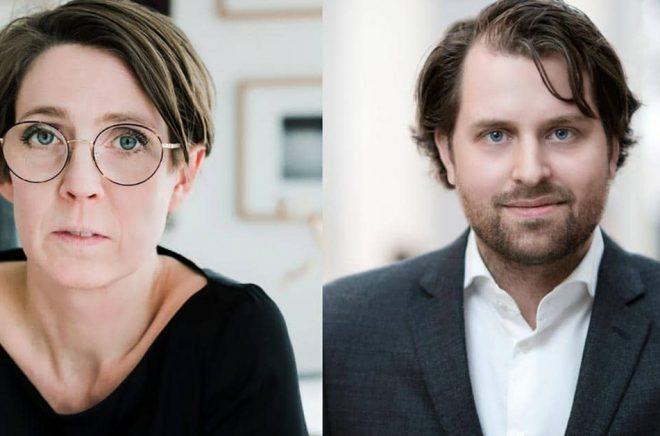 Svenska Tecknares ordförande Josefine Engström (foto: Anneli Nygårds) och utredaren Erik Wikberg (foto: Nicklas Gustafsson).