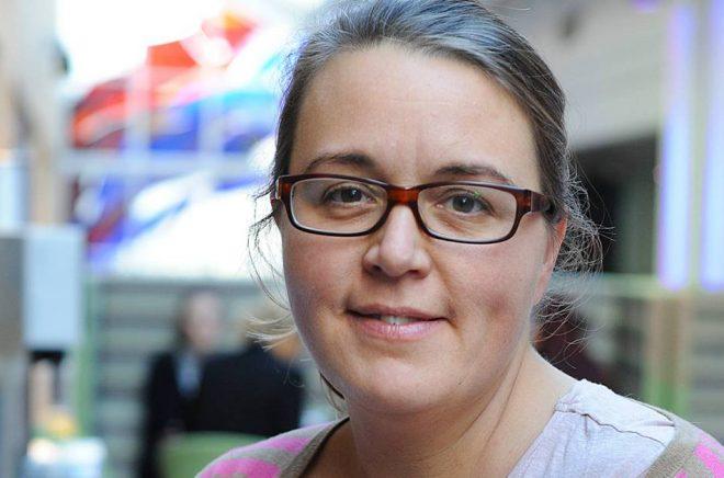 Karin Salmson, förläggare på Olika. Foto: Björn Lisinski