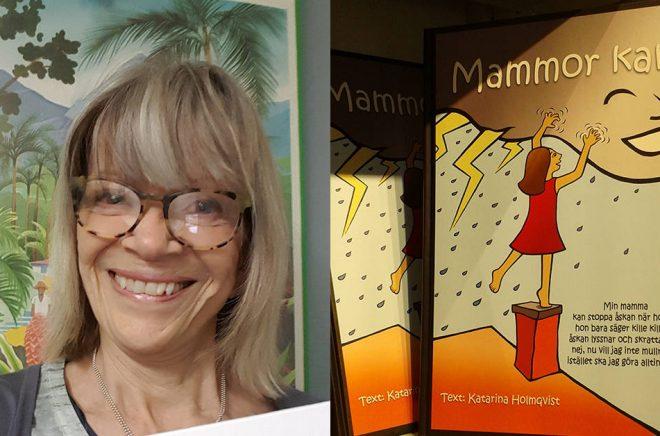 Författaren och egenutgivaren Katarina Holmqvist. Foto: Privat