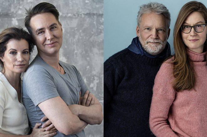 Alexandra Coelho Ahndoril och Alexander Ahndoril (foto: Ewa-Marie Rundquist) är författarna bakom pseudonymen Lars Kepler som dominerat topplistorna på 2010-talet. Men flest böcker har Martin Widmark sålt, många av dem tillsammans med illustratören Helena Willis (foto: Thron Ullberg).