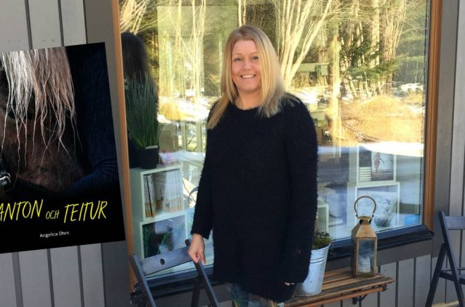 Anna Lärk Ståhlberg driver förlaget Kikkuli som startades av hennes farmor Ulla Ståhlberg. Foto: Christer Lärk