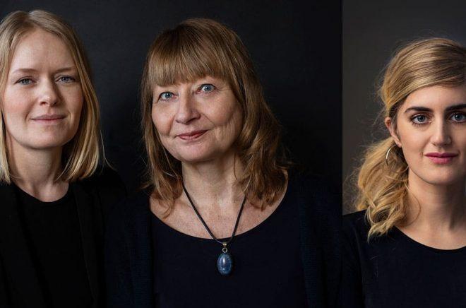 Författarna Kristina Edblom och Kerstin Weigl (foto: Sofia Runarsdotter) samt Matilda Gustavsson (foto: Thron Ullberg) får utmärkelsen Årets Selma 2020.