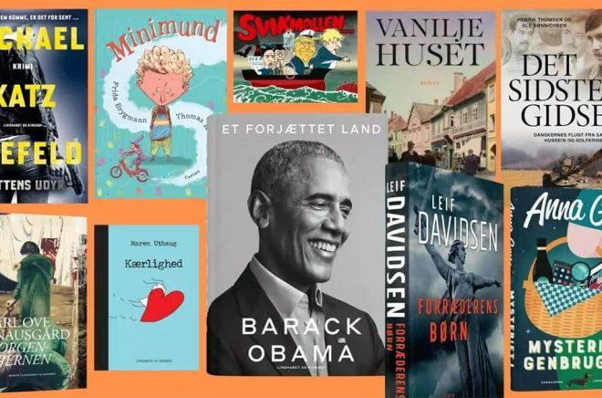 Barack Obama och Knausgård är välbekanta bästsäljare även på den svenska marknaden men annars är det precis som i Sverige många lokala bästsäljare när Lindhardt og Ringhof summerar 2020. Digitalförlaget Saga Egmont satsar dock globalt.