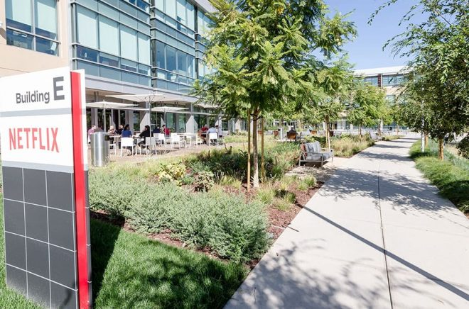 Netflix huvudkontor i Los Gatos, beläget i Silicon Valley, Kalifornien. Foto: Netflix.